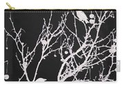 Raven - White Over Black Carry-all Pouch