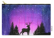 Winter Forest Galaxy Reindeer Carry-all Pouch