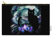 The Cat With Aquamarine Eyes And Celestial Crystals Carry-all Pouch