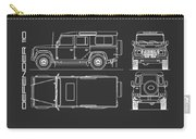 Defender 110 Blueprint Black Carry-all Pouch