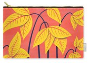 Abstract Flowers Geometric Art In Vibrant Coral And Yellow  Carry-all Pouch