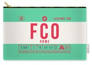 Retro Airline Luggage Tag 2.0 - Fco Rome Italy Carry-all Pouch