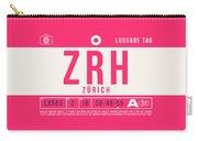 Retro Airline Luggage Tag 2.0 - Zrh Zurich International Airport Switzerland Carry-all Pouch