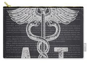 Athletic Trainer Gift Idea With Caduceus Illustration 02 Carry-all Pouch