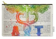 Athletic Trainer Gift Idea With Caduceus Illustration 03 Carry-all Pouch