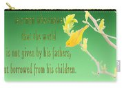 Audubon Warbler Quote Carry-all Pouch