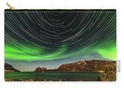 Aurora Borealis With Startrails Carry-all Pouch