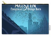 Austin Congress Bridge Bats In Blue Silhouette Carry-all Pouch