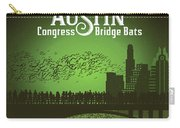Austin Congress Bridge Bats In Green Silhouette Carry-all Pouch