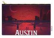Austin Congress Bridge Bats In Red Silhouette Carry-all Pouch