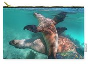 Australian Sea Lion Pair, Coral Coast Carry-all Pouch
