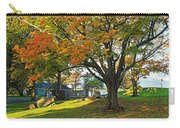 Autumn Day In The Salem Willows Salem Ma Red Carry-all Pouch