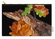 Autumn Oak Leaves And Acorns On Black Carry-all Pouch