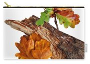 Autumn Oak Leaves And Acorns On White Carry-all Pouch