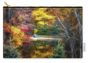 Autumn Pond With Rowboat Carry-all Pouch