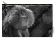 Baboon Black And White Carry-all Pouch