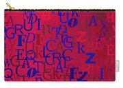Background With Letters Over Purple Backlight Carry-all Pouch