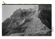 Badlands South Dakota Black And White Carry-all Pouch