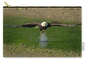 Bald Eagle Catching A Fish Carry-all Pouch