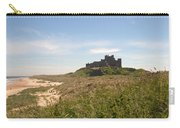 Bamburgh Castle And Beach In Summer Carry-all Pouch