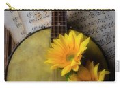 Banjo And Two Sunflowers Carry-all Pouch