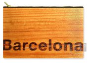 Barcelona Text Carry-all Pouch