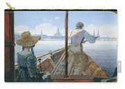 Barge Trip On The Elbe Near Dresden, Morning On The Elbe, 1827 Carry-all Pouch