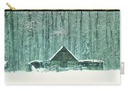 Barn In Snowfall Carry-all Pouch