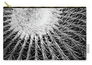 Barrel Cactus Black And White Carry-all Pouch