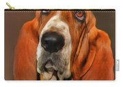 Basset Dog Portrait Carry-all Pouch