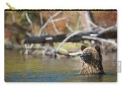 Bathing Blonde Grizzly Carry-all Pouch