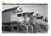 Beach Huts Sunset In Black And White Carry-all Pouch