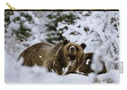 Bear In The Snow Carry-all Pouch