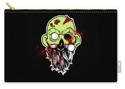 Bearded Zombie Undead With Beard Halloween Party Dark Carry-all Pouch