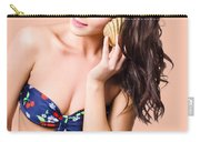 Beautiful Beach Babe Over Studio Background Carry-all Pouch