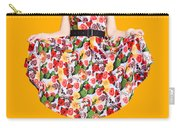 Beautiful Dancing Woman In Retro Red Dress Carry-all Pouch
