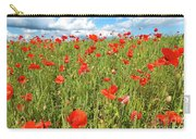 Beautiful Fields Of Red Poppies Carry-all Pouch