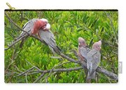 Beautiful Galah Birds With Babies. Wilsons Promontory National Park, Australia Carry-all Pouch