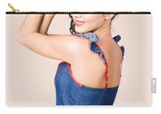 Beautiful Pin Up Woman. Rockabilly Retro Fashion Carry-all Pouch