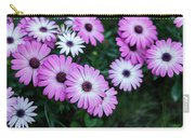Beautiful Pink Flowers In Grass Carry-all Pouch
