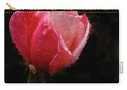 Beautiful Wet Rose Carry-all Pouch