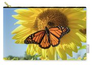 Beauty On The Sunflower Carry-all Pouch