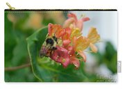 Bee On Wild Honeysuckle Carry-all Pouch by Ann E Robson