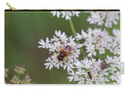 Bee Relaxing On A Flower. Carry-all Pouch