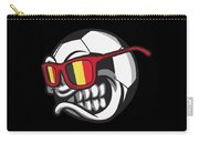 Belgium Angry Soccer Ball With Sunglasses Fanshirt Carry-all Pouch
