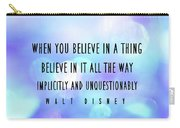 Believe Big Quote Carry-all Pouch