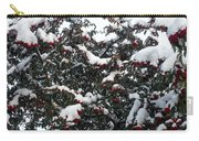 Berries And Snow Carry-all Pouch