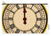 Big Ben Midnight Clock Face Carry-all Pouch