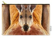Big Boy Red Kangaroo   Carry-all Pouch