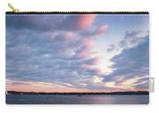 Big Sky Over Portsmouth Light. Carry-all Pouch by Jeff Sinon